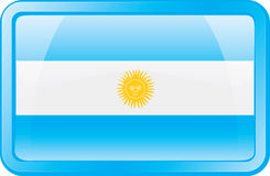 Argentina Flag Icon Stock Photo