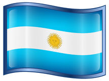 Argentina Flag icon Stock Photos