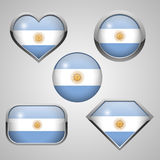 Argentina flag icons theme Royalty Free Stock Photo