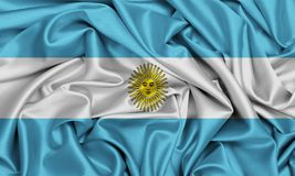Argentina flag made of silky ripple texture cool Stock Photos