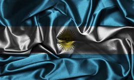 Argentina flag made of silky ripple texture cool Royalty Free Stock Photo