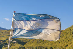 Argentina Flag at Outdoors Stock Image