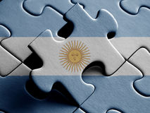 Argentina FLAG PAINTED ON PUZZLE nice. Argentina FLAG PAINTED ON PUZZLE Royalty Free Stock Photos