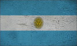 Argentina flag painted on Wall Cracked cool Stock Images