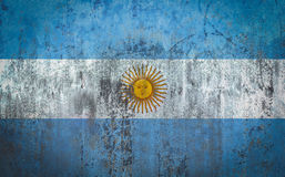 Argentina Flag painted on a Wall. Ddistressed Painting of a Flag on an old Wall Stock Photography
