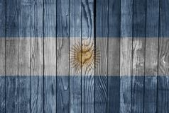 Argentina FLAG PAINTED ON WOOD cool. Argentina in FLAG PAINTED ON WOOD Stock Photography