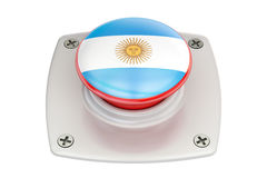 Argentina flag push button, 3D. Rendering Royalty Free Stock Photography