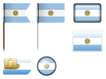 Argentina flag set. On a white background Stock Image
