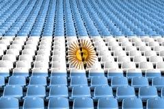 Argentina flag stadium seats. Sports competition concept. Argentina flag stadium seats. Sports competition concept stock image