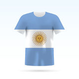 Argentina flag t-shirt Stock Photo