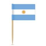 Argentina flag toothpick on white background Stock Photos