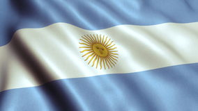 Argentina Flag Video - 4K stock footage
