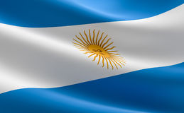 Argentina flag. Argentina flag waving in the wind Stock Photo