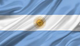 Argentina flag waving with the wind, 3D illustration. 3D rendering Stock Photography