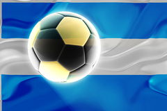 Argentina flag wavy soccer Royalty Free Stock Photos