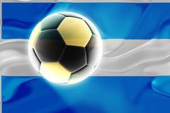 Argentina flag wavy soccer Royalty Free Stock Photos
