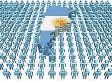 argentina flaga mapy ludzie Ilustracja Wektor