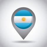 argentina flaga szpilka ilustracji