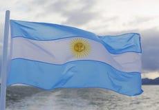argentina flagga Fotografering för Bildbyråer