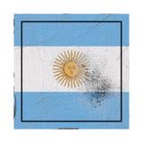 Argentina flagga i konkret fyrkant vektor illustrationer