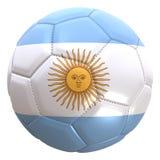 Argentina flagga på en fotbollboll royaltyfri illustrationer