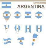 Argentina flaggasamling royaltyfri illustrationer