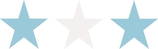 Argentina flaggastjärnor royaltyfri illustrationer