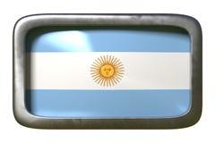 Argentina flaggatecken royaltyfri illustrationer