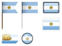 Argentina flaggauppsättning vektor illustrationer