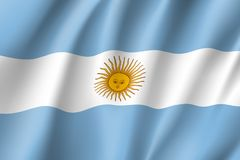 argentina flaggavåg stock illustrationer