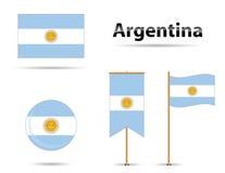 argentina flaggor royaltyfri illustrationer