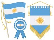 argentina flaggor vektor illustrationer