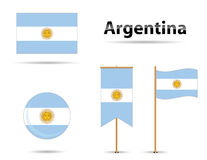Argentina flags Stock Photos