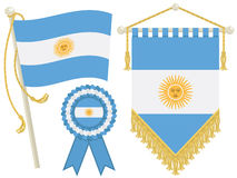 Argentina flags vector illustration