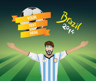 Argentina football fan Royalty Free Stock Photography
