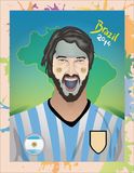 Argentina football fan Stock Photography