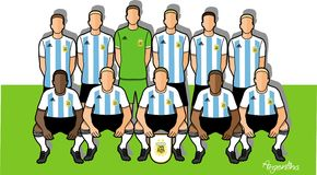 Argentina football team 2018. Qualified for the 2018 world cup in Russia Royalty Free Stock Photography