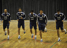Argentina football training Royalty Free Stock Photos