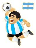 argentina fotbollmaskot stock illustrationer
