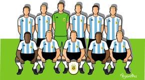 Argentina fotbollslag 2018 vektor illustrationer