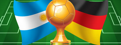 Argentina Germany. Argentina Herman finals of the World Cup 2014 Royalty Free Stock Image