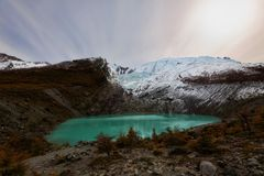 Argentina Glaciar Huemul Arkivbilder
