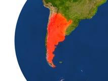 Argentina on globe Royalty Free Stock Photos