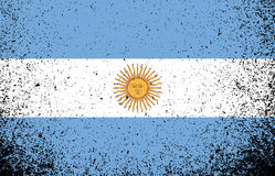 Argentina grunge flag banner illustration Stock Image