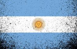 Argentina grunge flag banner illustration. Design graphic stock image
