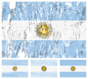 Argentina grunge flag set Royalty Free Stock Images