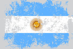 Argentina grunge, old, scratched style flag Stock Photos
