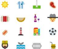 Argentina icon set Stock Image