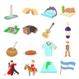 Argentina icons set, cartoon style Stock Photo