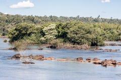 argentina iguassu Brazylijskie rzeki Obrazy Stock